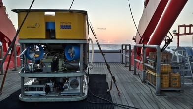Finding natural resources in the deep sea by laser